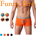 10 Birds Patterns New 2015 Four Funny Underwear Men Fashion Character Bird Boxer Shorts Plus Big Size M/L/XL/XXL/XXXL