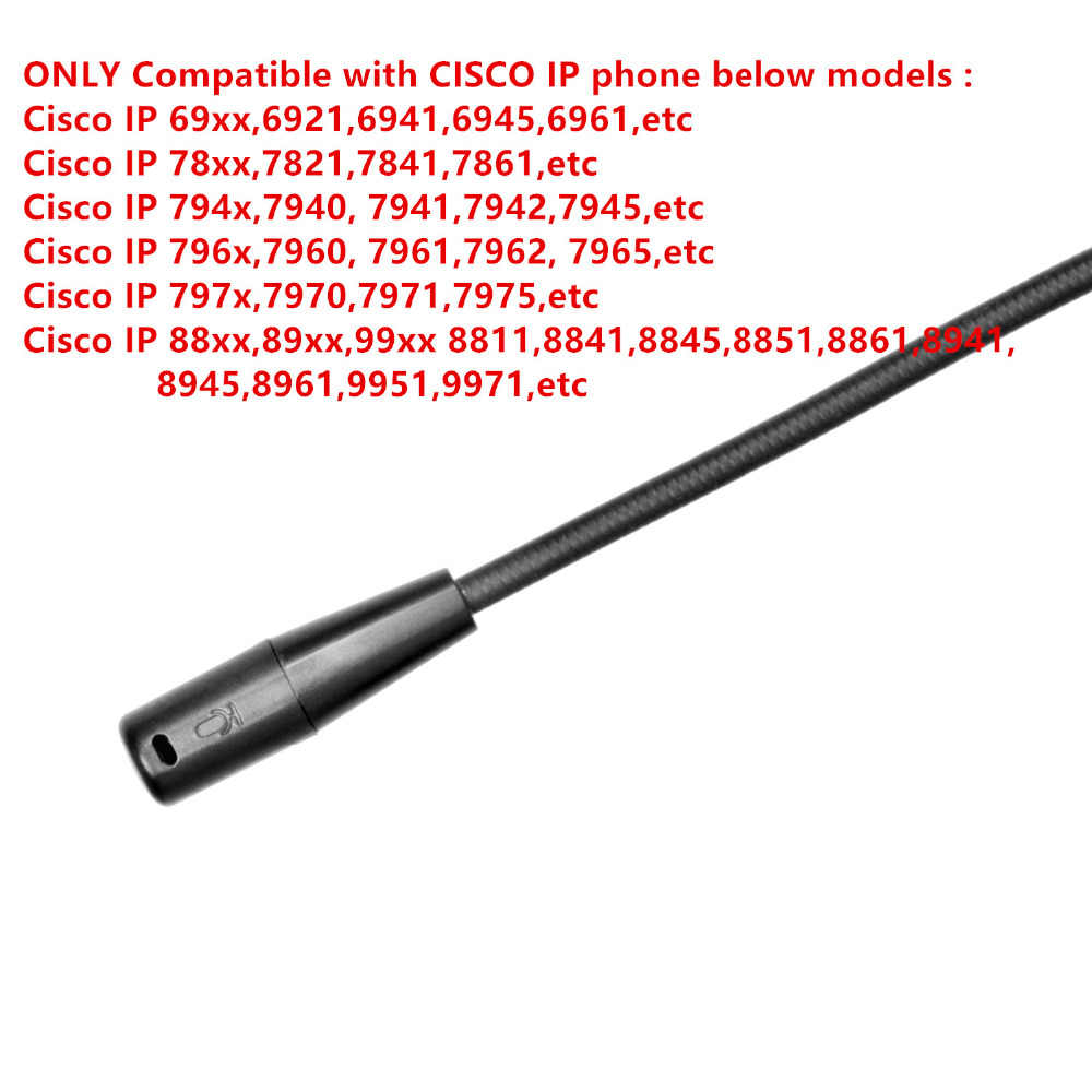 PROMOTION!!! Telephone Headset Headphone with Mic for CISCO IP Phones 7940  7941 7942 7945 7960 7961 7962 7965 89XX 99XX 6921 etc