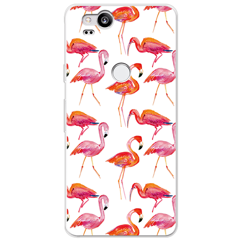 Cartoon Leaves Firebird Case For Google Pixel 2 Case Silicone Ultra Thin Soft TPU Rubber Transparent Clear Back Print Cover