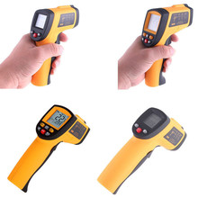Cheaper 1 Pc Laser LCD Digital IR Infrared Thermometer Temperature Meter Gun Point -50~380 Degree Non-Contact Thermometer VBQ01 N T0.11