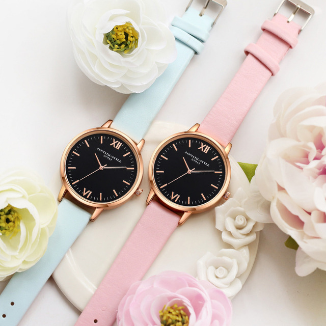 2017 Rose Gold Lvpai Brand Leather Watch Luxury Classic Wrist Watch Fashion Casual Simple Quartz Wristwatch Clock Women Watches 4