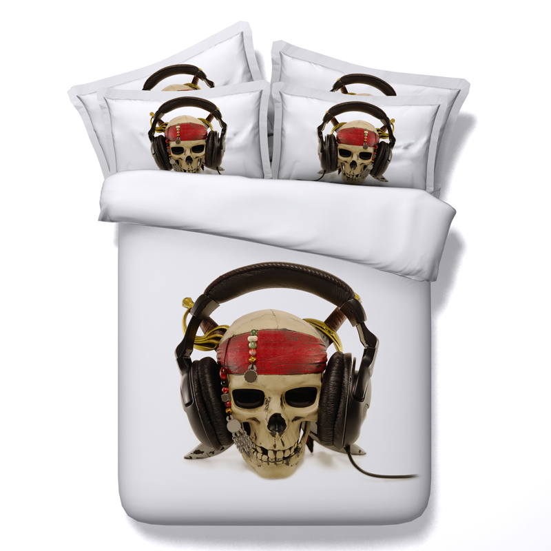 skull musical 3d print comforter bedding sets bedsclothes twin full queen  king cal king size duvet covers Adults bedroom woven. Skull Bedroom Set Promotion Shop for Promotional Skull Bedroom Set