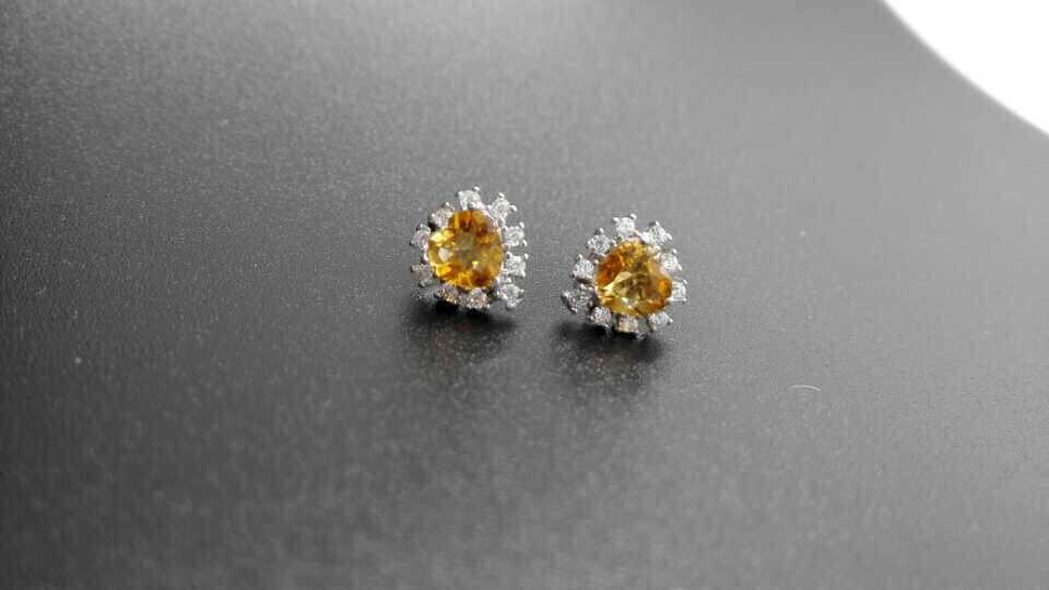 natural citrine earrings 925 silver Natural yellow crystal gemstone earring women romantic heart  fine earrings for party-in Earrings from Jewelry & Accessories