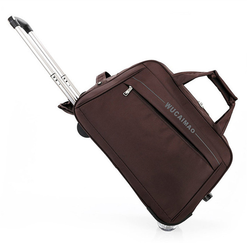 2018 New Quality Rolling Luggage Trolley Bag Women Travel Bags Metal Hand Trolley Female&male Bag Large Package Travel Suitcase