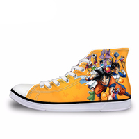 NOISYDESIGNS Fashion Anime Dragon Ball Z Print Men High top Vulcanized Shoes Cool Super Saiyan Son Goku Canvas Shoes for Men Boy