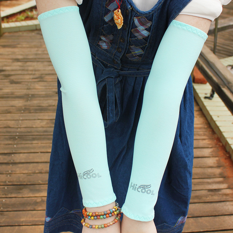1 Pair Women/Men Ice Silk Sun Protection Sport Oversleeves Cycle Bikes Driving Golf UV Arm Sleeves Cover Summer Fashion