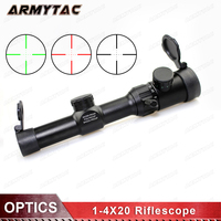 ArmyTac Optical 1 4X20 Riflescopes Sight Scope Reticle Rifle Scope With Mounts for Hunting