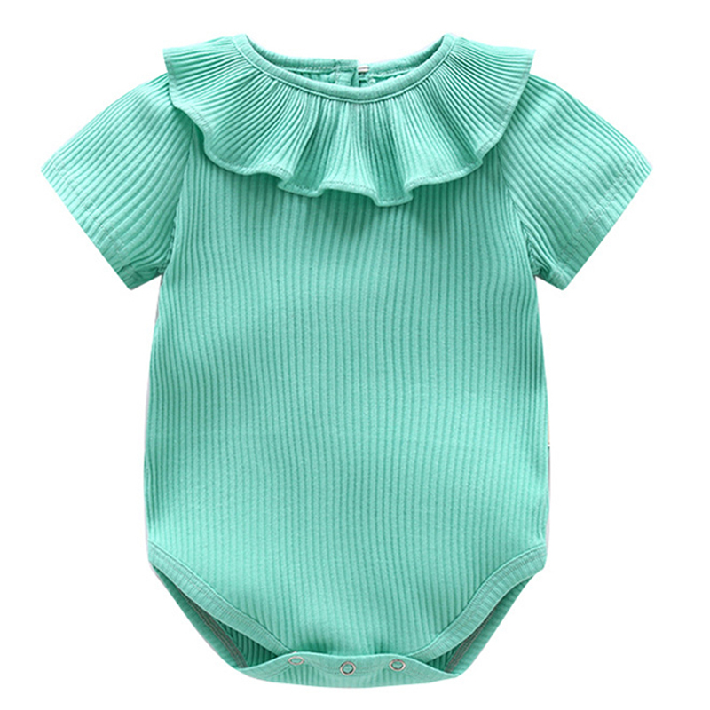 Summer Style Baby Rompers Baby Clothes Roupa bebe infant Jumpsuit Baby Girl Clothes Solid Cotton Toddler Newborn Outfit 3M-24M
