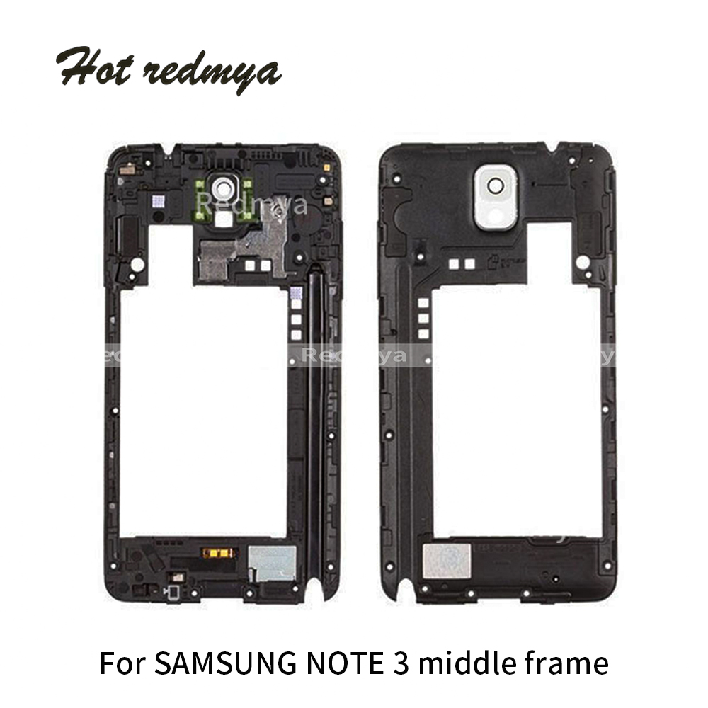 1pcs Back Middle Frame For Samsung Note 3 N9005 Frame Rear Housing With Camera Cover Panel Lens Replacement Parts Repair Part