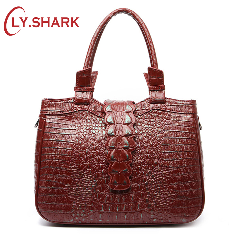 LY.SHARK Luxury Handbag Women Bags Designer Crocodile Genuine Leather Bag Female Shoulder Crossbody Bags For Women messenger Bag crossbody bag handbag 2018 new brand designer messenger bags genuine leather women s female fashion woman chains bag shoulder