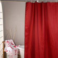 Simple Bath Curtain Red Geometric Idea Shower Curtains Plastic Waterproof Mold Proof Bathroom Products Supplies