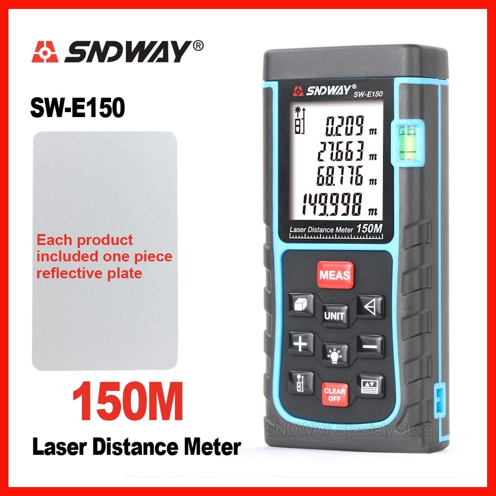 SNDWAY Digital Laser Distance Meter Rangefinder Range Finder SW-120 SW-150 120m 150m Tape Trena Ruler Tester Hand Tool Home sndway digital laser distance meter 150m laser range find laser range finder bubble level measure tape
