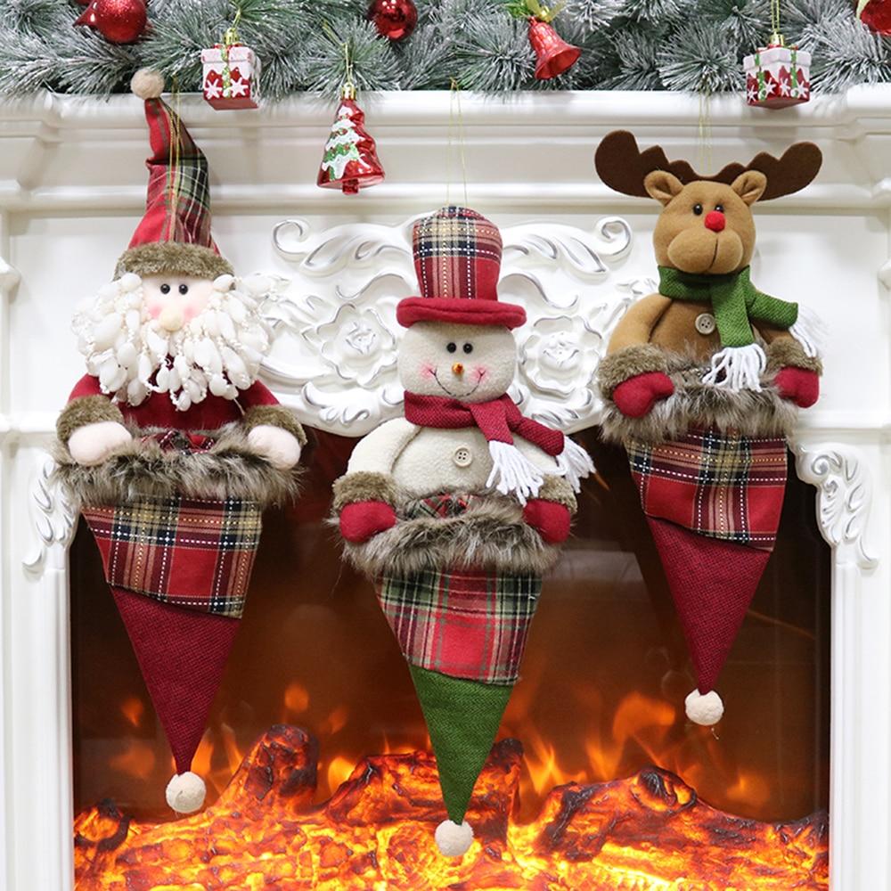 Christmas Tree Merry Christmas: 3pcs/set Merry Christmas Ornaments Christmas Tree Candy