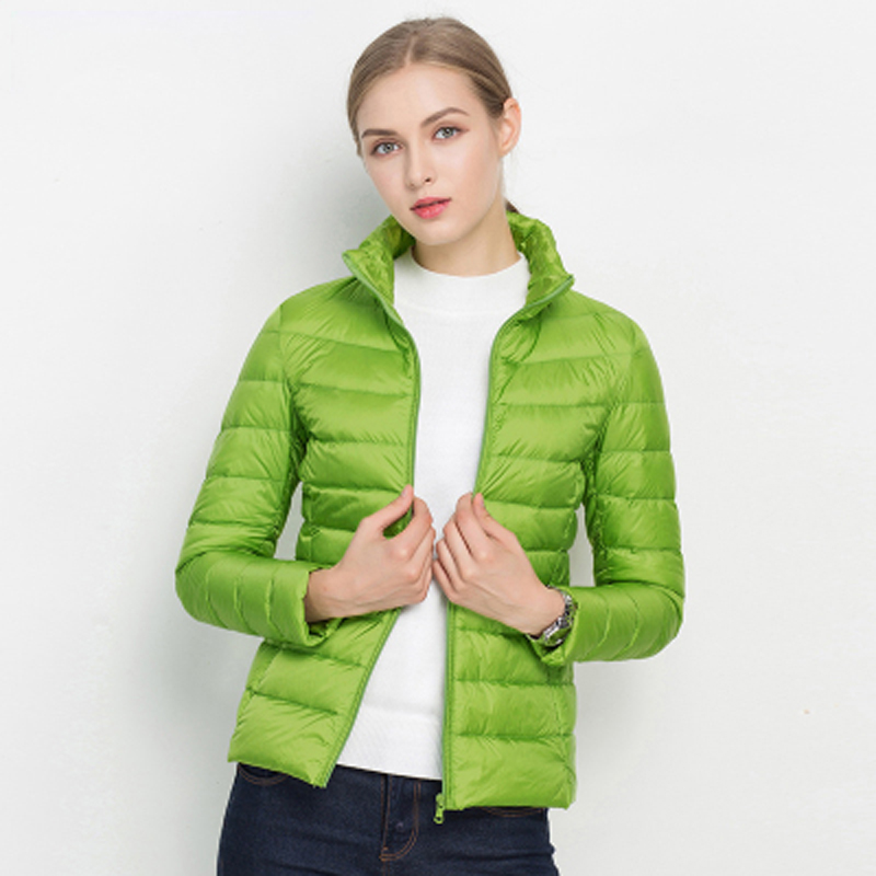 4b9bf3d5d7901 Portable 2018 Autumn Winter Coat Woman 90% White Duck Down Jacket Slim Warm  Women Puffer Jacket Zipper Ultra Light Down Coat-in Down Coats from Women s  ...
