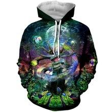 PLstar Cosmos 2019 Psychedelic Cosmic Serpent 3D Print  Hoodies Women/Mens Casual Hooded Sweatshirt Top Tees Dropshipping