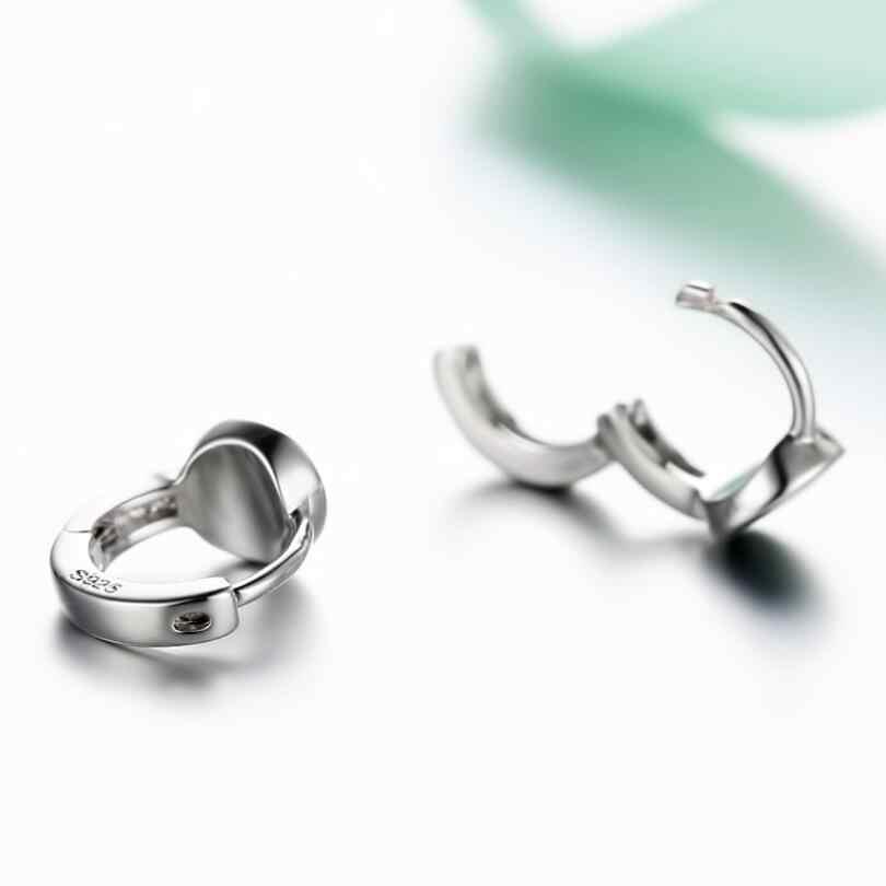 Изящные черные круглые Ушные крючки серьги для Для женщин тенденция Творческий 925 пробы Серебряные вечерние подарок Jewelry аксессуары SAE351