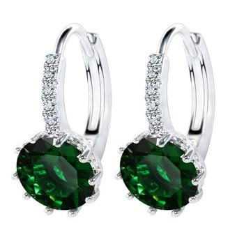 Shiny Shape Style Hoop Earrings For Women Female 925 Sterling Silver 1