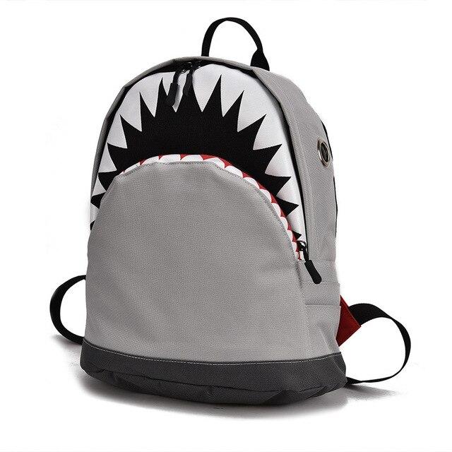 Crianças 3D Modelo Tubarão Mochilas Escolares Mochilas Bebê Saco de Escola Para Meninos E Meninas do jardim de Infância da Criança Bagpack Lona Criança mochila