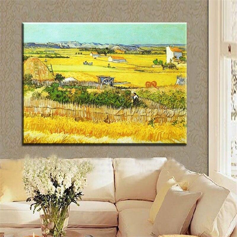 Винсент Ван Гог картина маслом холст урожая настенная живопись искусство фотографии для гостиной Home Decor quadros caudros decoracion001