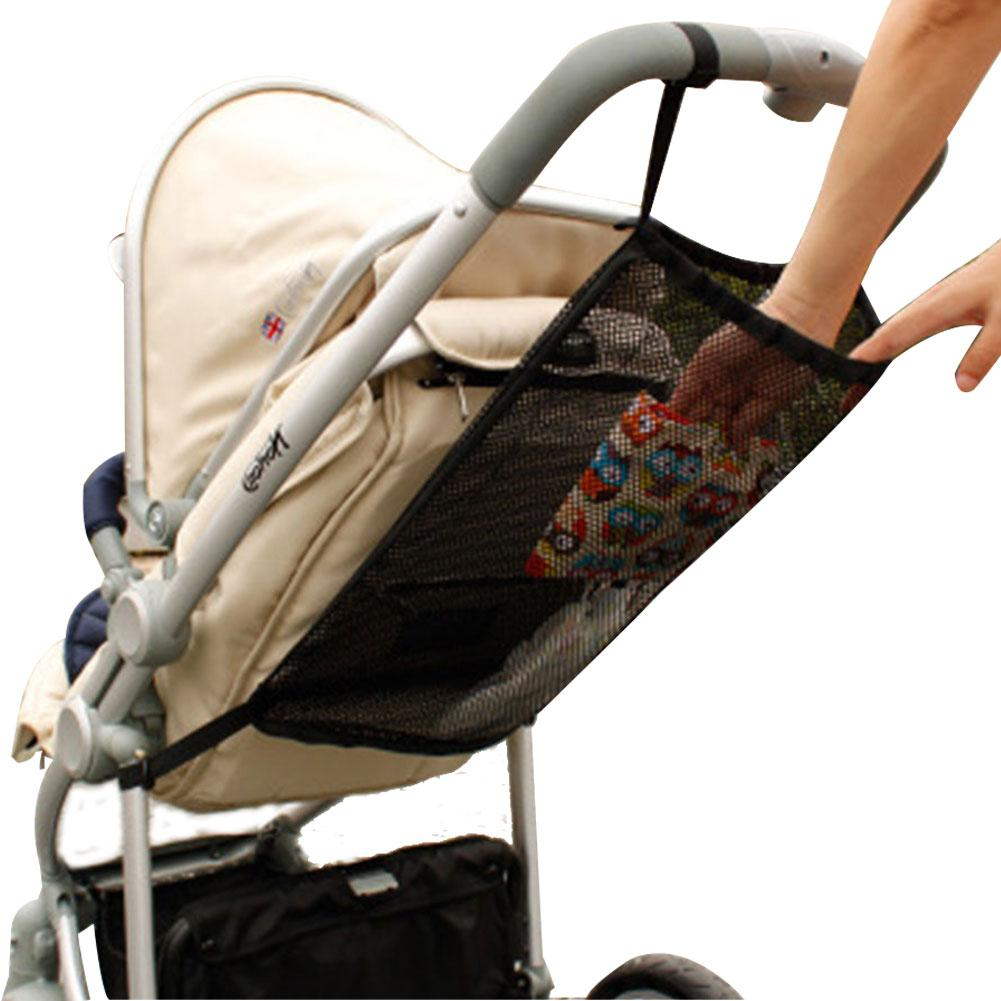 1pc 2019 NEW Baby Stroller Organizer Child Trolley Basket Mesh Hanging Storage Net Bag Seat Pocket Stroller Cart Accessories
