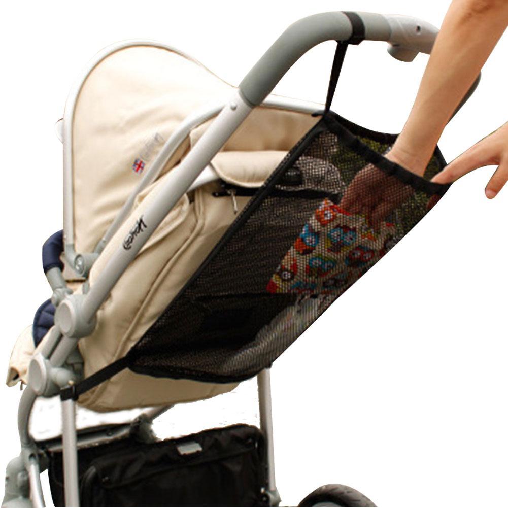 1pc 2019 NEW Baby Stroller Organizer Child Trolley Basket Mesh Hanging Storage Net Bag Seat Pocket Stroller Cart Accessories