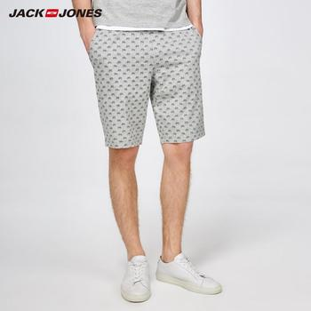 JackJones Men's Printed Knit Shorts Homewear Comfort Pajama Simple Loose Sleepwear Pijamas Menswear Male |2181SH501