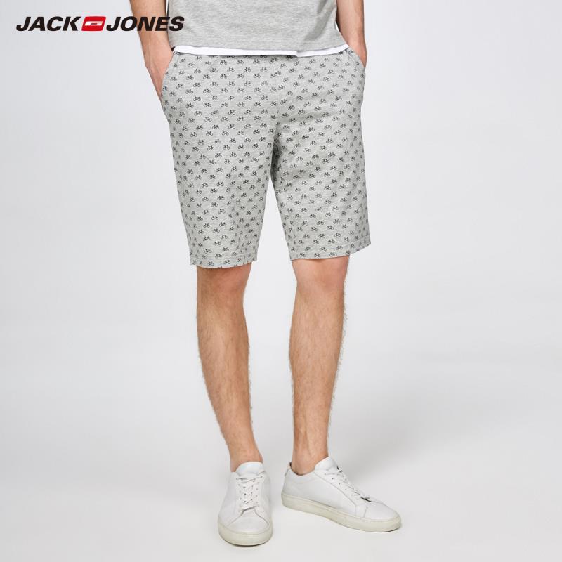 JackJones Men's Printed Knit   Shorts   Homewear Comfort Pajama Simple Loose Sleepwear Pijamas Menswear Male |2181SH501