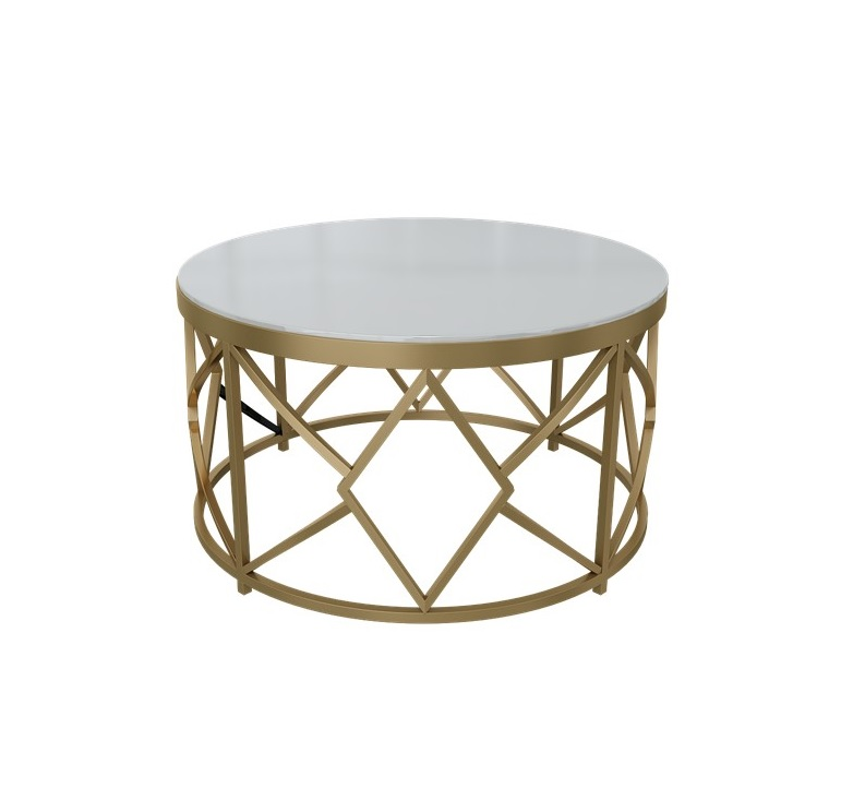 80cm Round Marble Coffee Table with Metallic Tones Brushed Steel Frame 80cm Round Marble Coffee Table with Metallic Tones Brushed Steel Frame