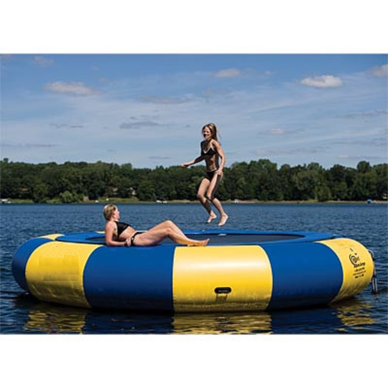 Water Trampoline 5 M (16.4 Feet) Diameter 0.6mm PVC Inflatable Trampoline Or Inflatable Bouncer Water Park Used