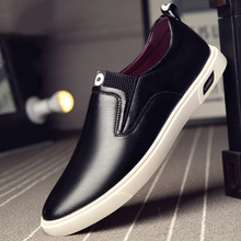 2019 fashion famous brand men's sports shoes youth Korean version of the trend of wild super fiber round head casual shoes men fashion simple and comfortable 2019 men s wear casual shoes korean version of the trend of wild trend elastic belt shoes men