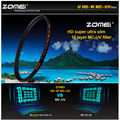 MCUV ZOMEI PRO Ultra Slim HD 18 Camada Multi-Revestido Schott vidro hoya mc filtro uv para canon nikon sony camera lente