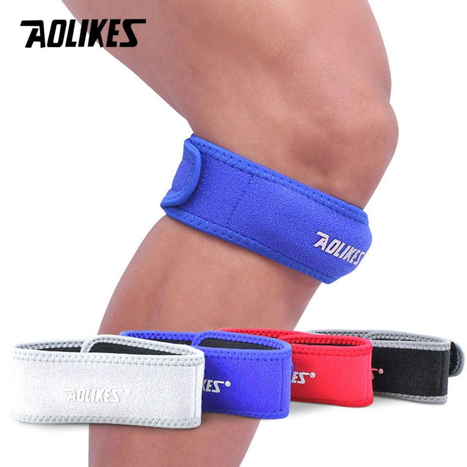 AOLIKES 1PCS Adjustable Knee Patella Cushioning Neoprene Band Knee Support Sports  Running Knee Brace Pads