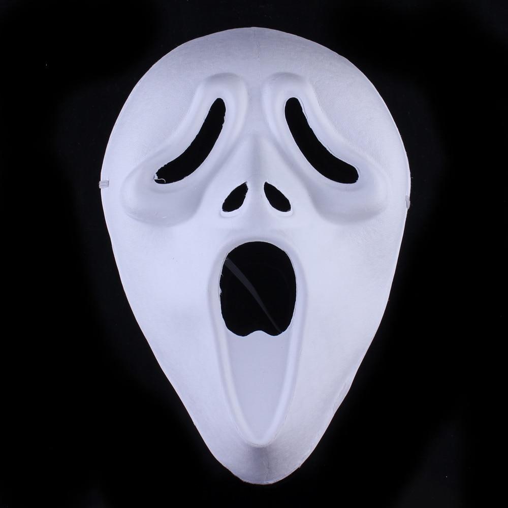 Кричащие призраки DIY пустые Вечерние Маски белая бумажная целлюлоза окружающей среды Изобразительное искусство живопись программы Маскарад полное лицо маски 10 шт - Цвет: Screaming ghosts