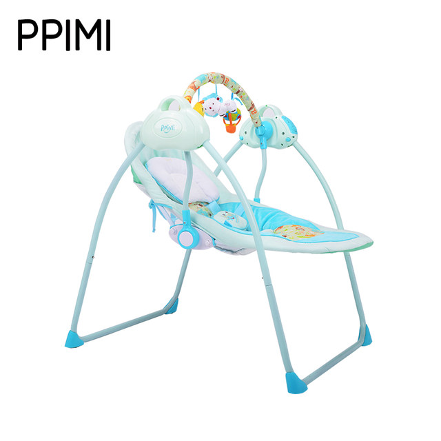 Online Shop Golden frame electric baby rocking chair child swing ...