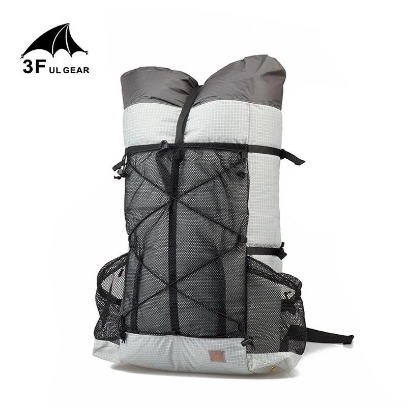 3F UL ENGRENAGEM de Acampamento Ao Ar Livre mochila de viagem caminhadas mochila 26L 38L Pacotes De Trekking Ultraleve Frameless