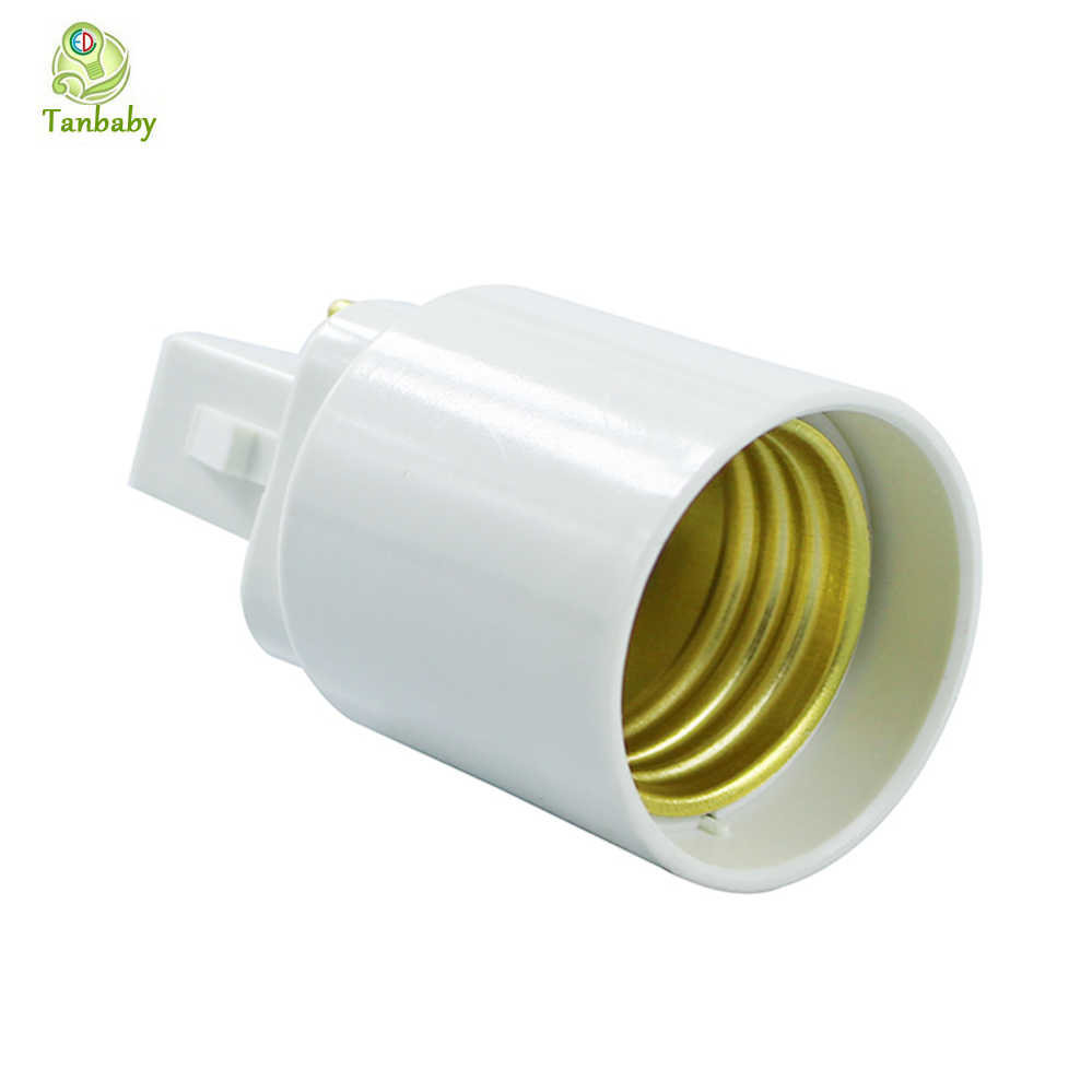 1PC G24 To E27 Base Adapter White 2pin Base Fixture G24 To E27 Screw Base Convertor PC Retardant for Led Lamp Bulb