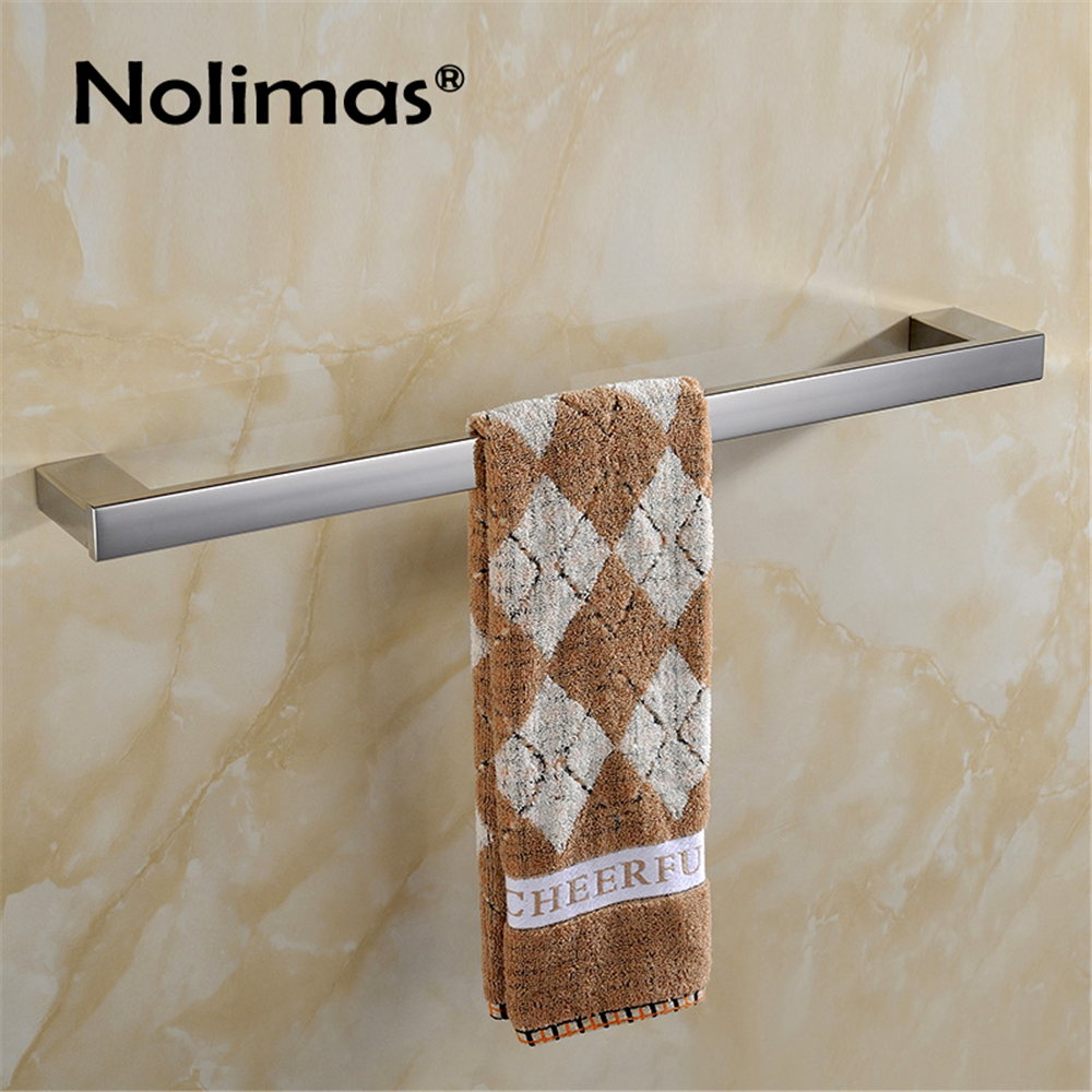 2017 SUS 304 stainless steel Single towel bar square towel rack in the bathroom wall mounted towel holder Free shipping
