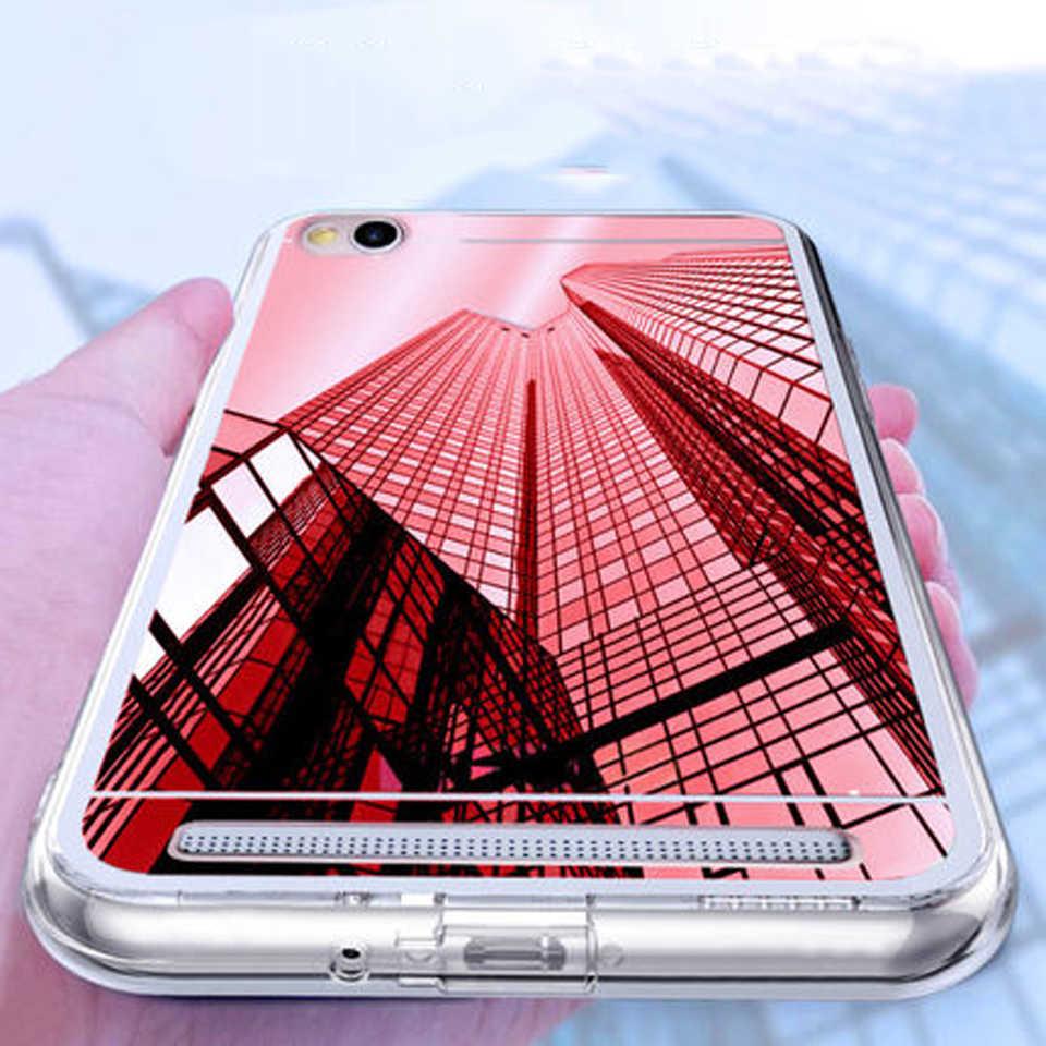 بريق مرآة TPU جراب هاتف شاومي RedMi 6A 6 برو 4X 4A 5A مي A2 لايت A1 Meizu MX6 M3E M3 M5 m5S M6 ملاحظة A5 M5C لينة جراب هاتف