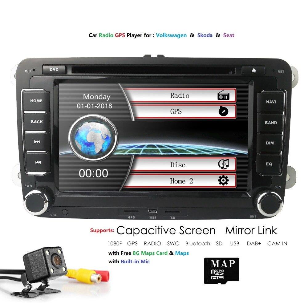 DVD de voiture GPS Navi lecteur multimédia pour V W GOLF voiture DVD pour PASSAT B6 B5JETTA POLO CC TIGUAN OCTAVIA Skoda siège CAM carte RDS DAB
