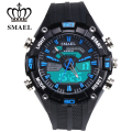2017 SMAEL NewMale Watch Tide Male Fashion Han Edition Student Movement Quartz Waterproof Electronic Dual Display Watch1352