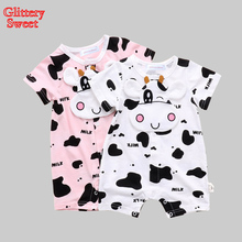 Newborn Baby Rompers Summer Style Baby Girls Clothes Animal Cartoon Infant Jumpsuits Ropa Bebes Baby Boy Brand Clothing