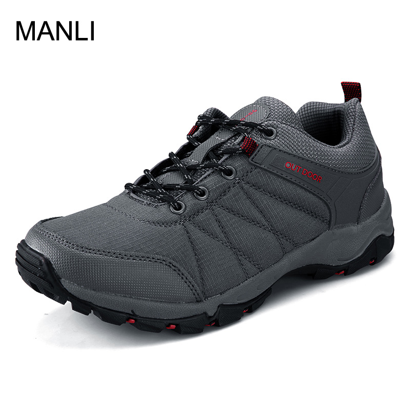 MANLI Big Size Outdoor Sports Camping shoes for Men Tactical Hiking Upstream Shoes For Summer Breathable Waterproof Hiking Shoe bolangdi men hiking shoes sports sneakers man athletic shoes waterproof breathable climbing camping outdoor shoes big size 39 48