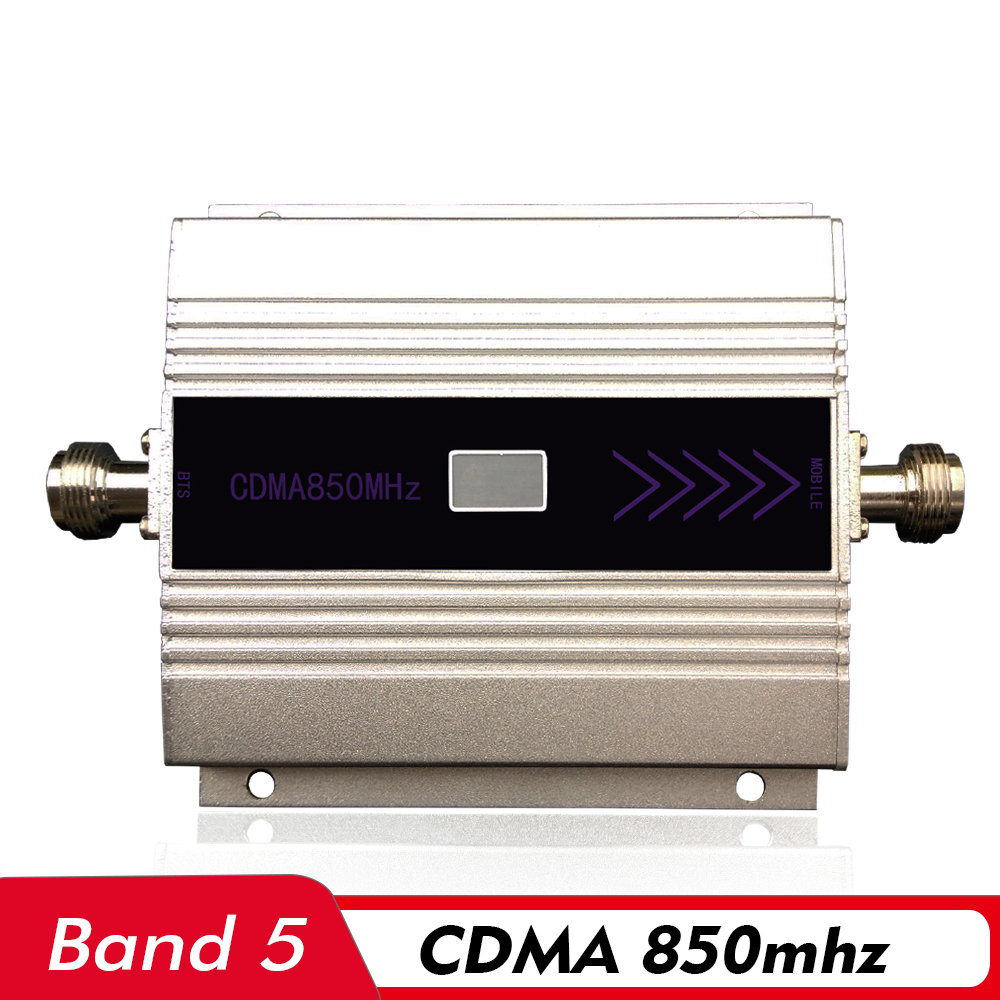 60dB Mini LCD Display Cell Phone Signal Booster <font><b>GSM</b></font> CDMA <font><b>850mhz</b></font> (LTE Band 5) Mobile Signal <font><b>Repeater</b></font> CDMA 850 Cellular Amplifier image
