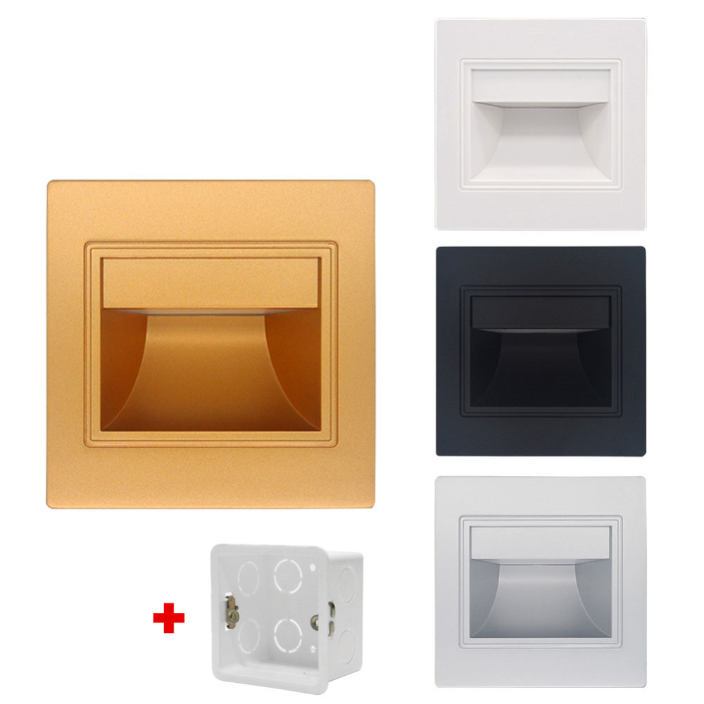 1.5W Recessed wall foot light AC85 265V Led Stair Light Step Lamp ... for Wall Foot Light  54lyp