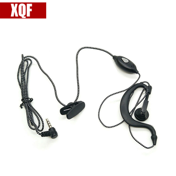XQF 1 PIN 3.5mm Small Square PTT Earpiece MIC for YAESU VX-3R/5R/10/110/132/168/210/ 300 FT -50/60R TSP-2100 New Black image