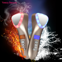 Ultrasonic Cryotherapy LED Hot Cold Hammer Facial Lifting Vibration Massager Face Body Spa Import Export Beauty Salon Machine