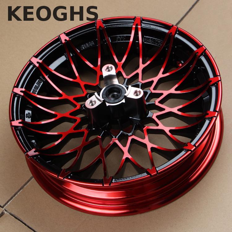 Keoghs moto 10/12 pouces 57/70mm jante avant en alliage d'aluminium pour Yamaha Scooter modifier
