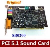 Original 1PCS For Creative SoundBLASTER LIVE 5 1 Surround PCI Sound Card SB0200