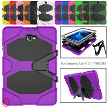 Armor Kickstand Case Funda For Samsung Galaxy Tab A A6 10.1 P580 P585 Case Cover Tablet Shockproof Heavy Duty Stand Hang Shell