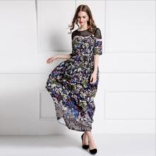 Runway Maxi Dress Long Lace Hollow Out Embroidery Evening Party Dresses Ukraine Womens Sexy Dresses Party Night Club Dress